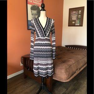 INC INTERNATIONAL CONCEPTS patterned knit dress